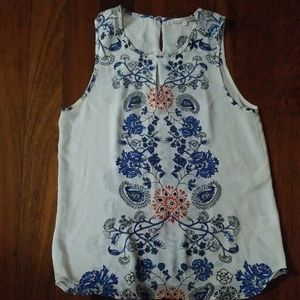 Paisley and Flower Blouse